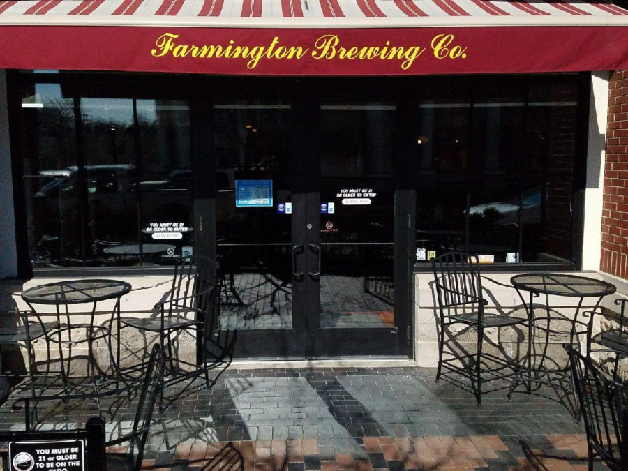 the patio at farmington brewing company